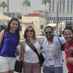 Thais Rocha, Pamela Correia, Alesson Porto e Glephson Fernandes, da Azul Viagens, no Universal Studios