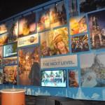 Uma das paredes é estampada com atrações da Universal