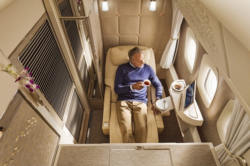 resized-Emirates 777 First Class zero gravity position