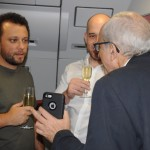 A conversa entre o chef Thomaz Troisgros, o presidente da Avianca Brasil, Frederico Pedreira, e o fundador José Efromovich