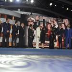 Autoridades, convidados e executivos da MSC recepcionam Sophia Loren