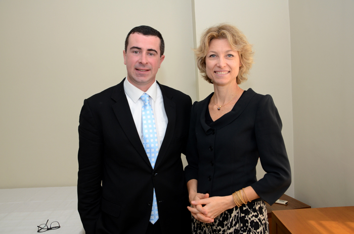 Bernardo Ignarra, do M&E, e Caroline Putnoki, da Atout France