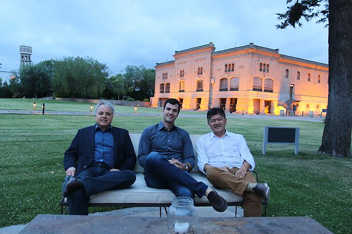 Carlos Prado, Rubens Schwartzmann e Gervásio Tanabe