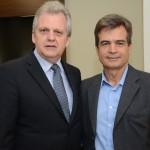 Edmar Bull, presidente da Abav Nacional, e Paulo Henrique Pires, da Localiza