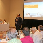 Eduardo Bernardes, da Gol faz apresentação da companhia para os associados Abracorp