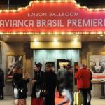 Entrada do evento da Avianca Brasil em Nova York após o voo inaugural