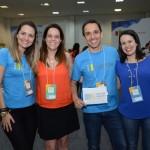 Fernando Lino e Daniel Biancareli, da Monde, Juliana Luengo, da BedsOnline, e Juliana Assumpção, da Aviesp