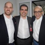 Frederico Pedreira, Marcius Moreno e José Efromovich, da Avianca
