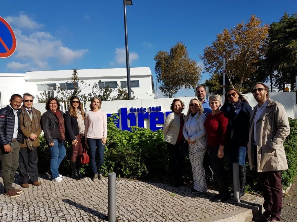 Grupo de agentes brasileiros visita escritório Créditos_ Divulgação