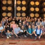 Grupo de associados Abracorp em visita a bodega Zuccardi