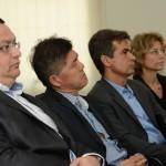 Lúcio Oliveira, da Capacitar, Tanabe, da Abracorp,  Paulo Henrique Pires, da Localiza, e Caroline Putnoki, da Atout France no Brasil