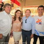Leonel Pavan, secretário de Turismo de SC, Margot Rosenbrock Libório, do Balneário Camboriú CVB, Valdir Valendowisky, presidente da Santur, e Rogerio Siqueira, CEO do BCW