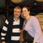 Luiz Strass com sua esposa em visita a bodega Zuccardi