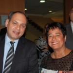 Marcelo Abreu da Emirates e Cristina Fritsch da Abav-RJ