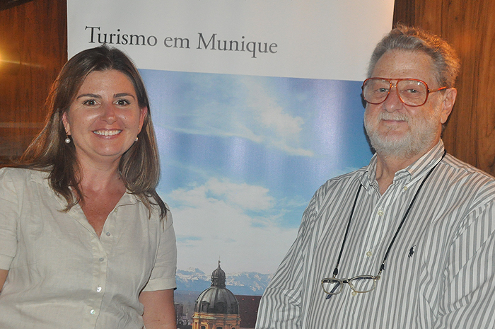 Margaret Grantham, do DZT, e Giovani Lenard, do Turismo de Munique
