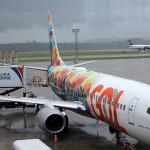 O avião customizado com o tema de Rock foi o escolhido pela Gol