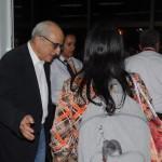 O fundador da Avianca Brasil, José Efromovich, recepcionou os passageiros no portão 241