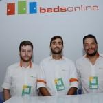 Phillip Machado, Vinicius Monteiro e Tiago Puntel, da Bedsonline