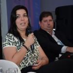 Raquel Biancareli, da Sonho Real Turismo, e Fabiano Baccari, da Nova Opção Turismo