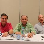 Ronaldo Walterick, da Maiorca, Afranio Lages Filho, da Aeroturismo, e Décio Slomp, da Avipam