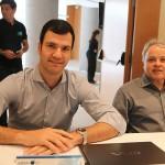 Rubens Scwartzmann, da Costa Brava, e Carlos Prado, da Tour House