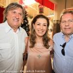Leonel Pavan, secretário de Turismo de SC, Margot Rosenbrock Libório, do Balneário Camboriu CVB, e Valdir Valendowisky, presidente da Santur