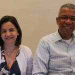 Soely Oliveira, da BCD Travel, e Reifer de Souza, da Alatur JTB