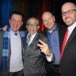 Valter Patriani, na época da CVC, José Efromovich, da Avianca, Marcelo Sanovicz, da Rextur Advance, e Frederico Pedreira, da Avianca, na festa de inauguração do voo para NY