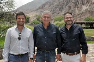 Federico Posadas, ministro da Cultura e Turismo, Gerardo Morales, governador, e Diego Valdecanto, secretário de Turismo de Jujuy