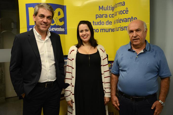 Fernando Santos, Juliana Assumpção e Sebastião Pereira, da Aviesp