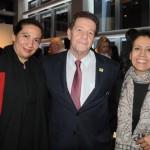 Ingrid Vieira, do Gran Meliá RJ, Wellington Costa, da GBTA, e Jandira Cordeiro, da Setur de Foz do Iguaçu