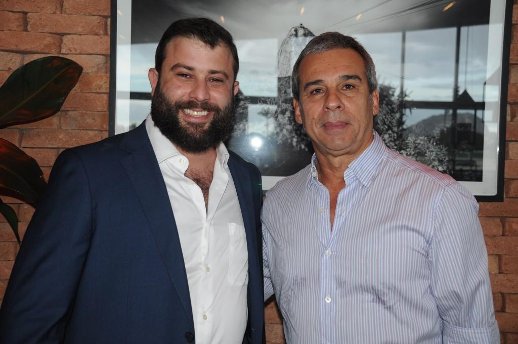 O presidente, Fernando Blower, e o vice-presidente, Pedro de Lamare