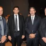 Os deputados federais Weverton Rocha, Cláudio Cajado, Arthur Lira e Paulo Azi
