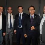 Paulo Ornelas, da Abreu, Terry Dale, CEO da USTOA, Marx Beltrão, Ministro do Turismo, Vinicius Lummertz, presidente da Embratur, e Michael Nagy, do Rio CVB