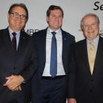 Vinicius Lummertz, presidente da Embratur, Marx Beltrão, Ministro do Turismo, e Sergio Amaral, embaixador do Brasil nos EUA