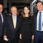 Vinicius Lummertz, presidente da Embratur, Sergio Amaral, embaixador do Brasil nos EUA, Luciana Lobo, secretária executiva da Setur-CE, e Marx Beltrão, Ministro do Turismo