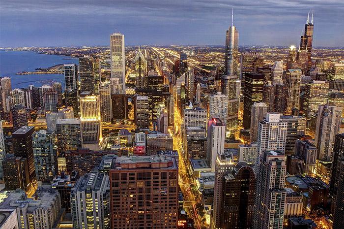Vista aérea de Chicago - Foto - Allen McGregor
