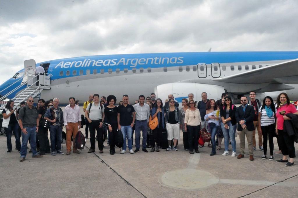 Voo inaugural contou com a presença de operadores e jornalistas brasileiros