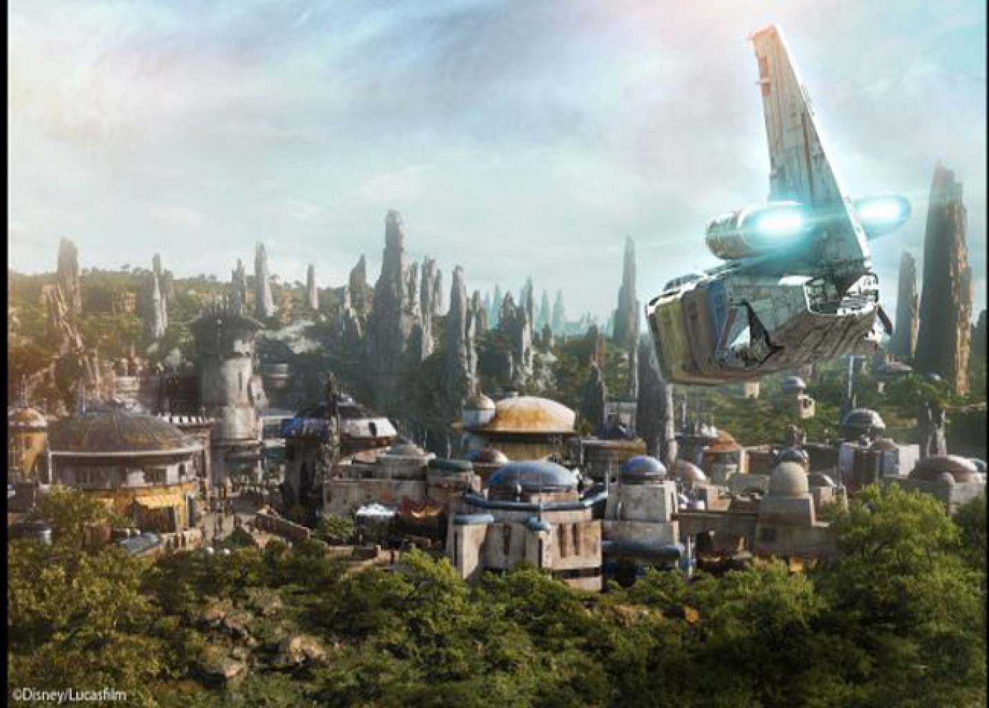 Veja vídeo da construção da nova área de Star Wars na Disney