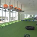 Área de treinos de funcional, lutas e crossfit