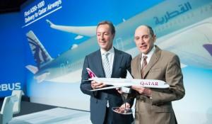Em cerimônia especial, Airbus entrega 1° A350-1000 a Qatar Airways