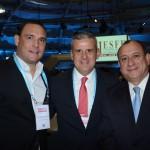 Alexandre Bacelar, do WTC, Juan Pablo de Vera, da Reed, e Toni Sando, do SPCVB