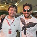 Arthur Furtado, da Avianca e Felipe Pezzoni, da Banda Eva