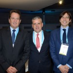 Arthur Repsold, presidente da GL events Brasil, Juan Pablo de Vera, da Reed, e Nick Dugdale, da UFI