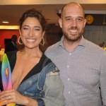 Atriz Gisele Itié com Frederico Pedreira da Avianca
