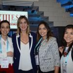 Bianca Pizzolito, Claudia Delfino e Luciane Leite, da Reed, e Catalina Galvis, da Procolombia