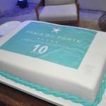 Bolo de comemoração ao aniversário de dez anos do Iberostar Praia do Forte
