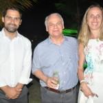 Bruno Fernandes e Orlando Giglio, da Iberostar, com Monique Hingel, da Litoral Verde