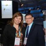 Diana Pomar, do Turismo do México, e Lucio Yamashitafuji, da Aeromexico