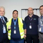 Ernesto Salvati, Anderson Antunes, Marcelo Machado, da Aerolíneas Argentinas, e Carlos Chacha, da Boeing